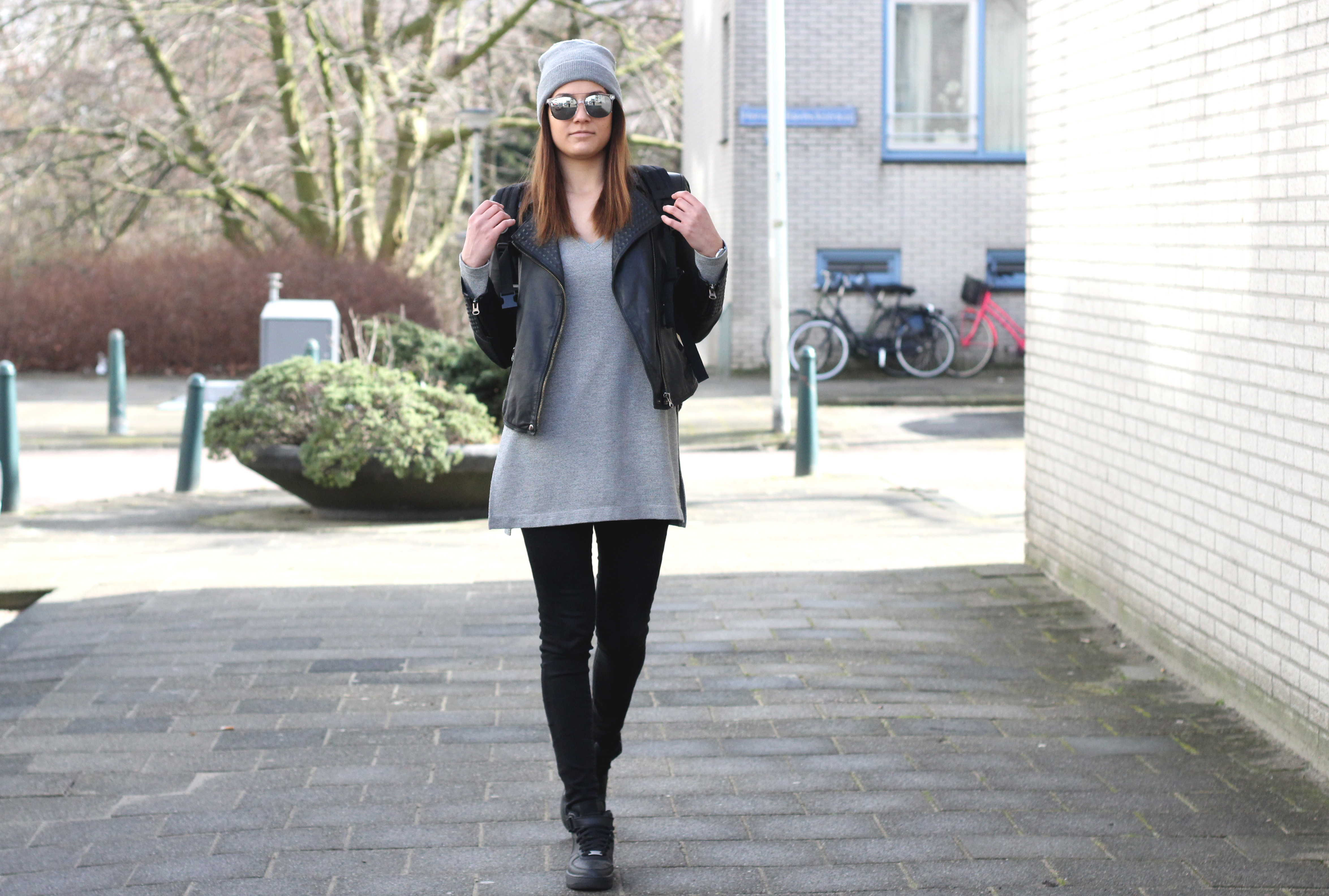 outfit post monochrome minimalist polette eyewear fernandez nike air force style bulgarian fashion blogger quite a looker blog www.quitealooker.com