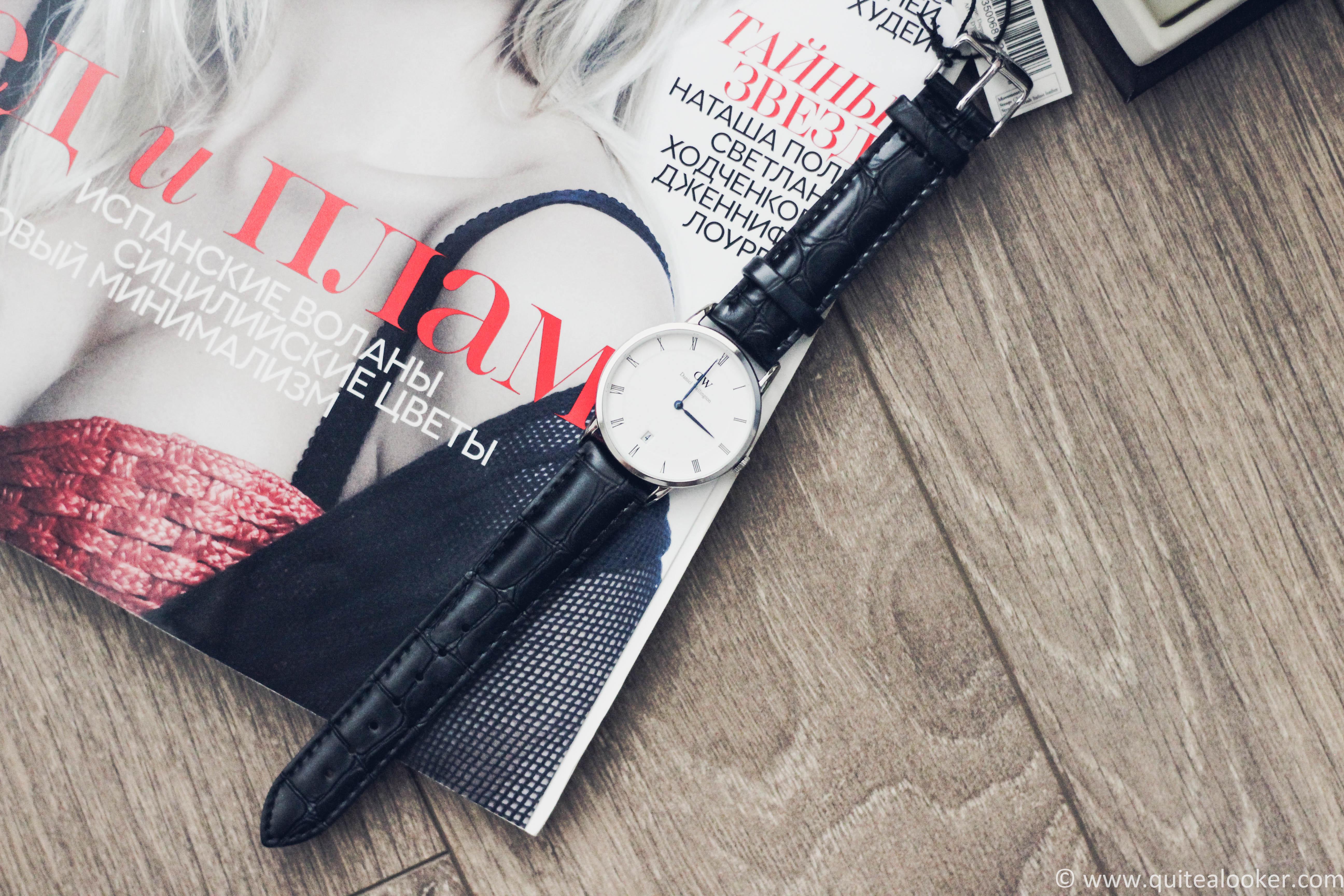 Daniel Wellington Dapper Reading 34mm review by Bulgarian fashion blogger Quite a Looker