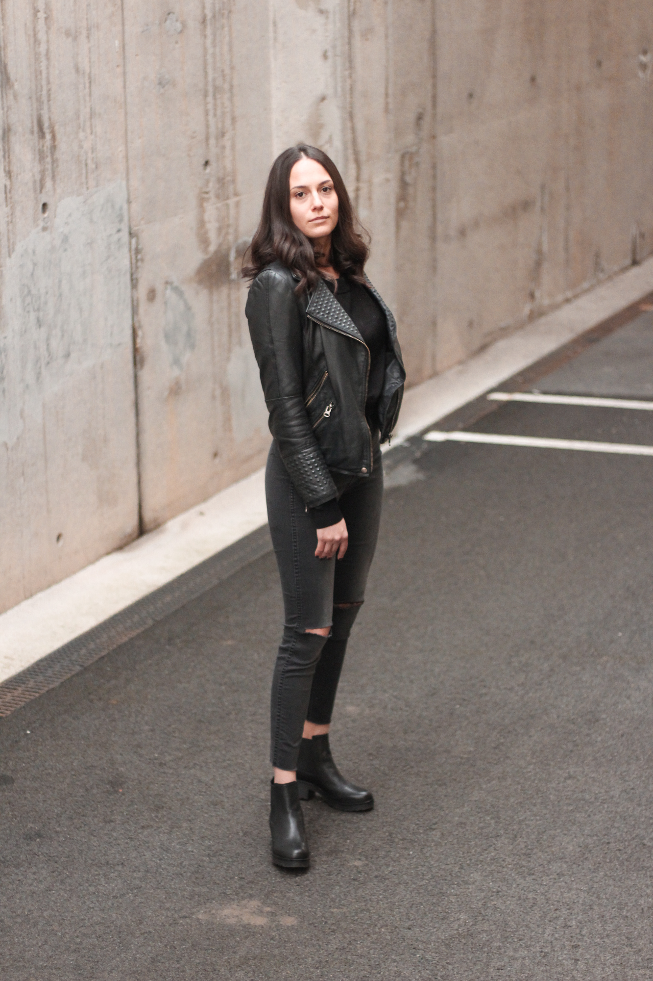 autumn essentials, Zara studded leather jacket, leather ankle boots Zign by Bulgarian fashion blogger Michaella from Quite a Looker