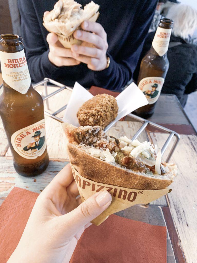 пътеводител къде да хапнем в Рим евтино пица, паста, панини, trapizzino