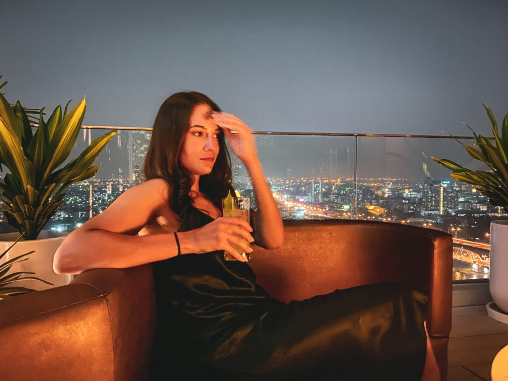 Avani+ Riverside - Seen Rooftop Bar - 3 days itinerary in Bangkok, Thailand - Travel blogger Michaella from Quite a Looker review sightseeing